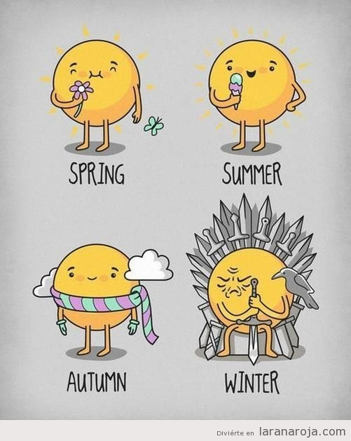 Dibujo de las estaciones del año, Invierno es Winter is coming
