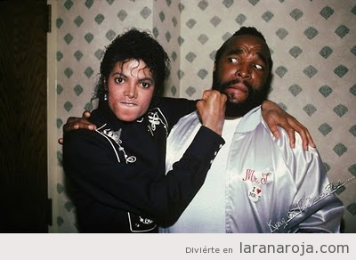 Foto graciosa de Michael Jackson y Mr.T o MA Barracus