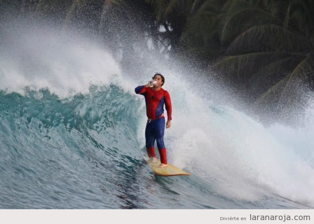 Foto graciosa, Spiderman surfista