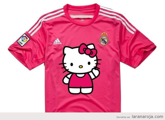 Memes graciosos camiseta Real Madrid color rosa 2