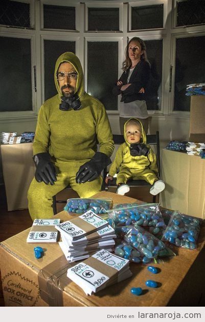 Disfraz en familia Breaking Bad