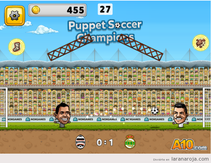 Juego Puppet Soccer Champions